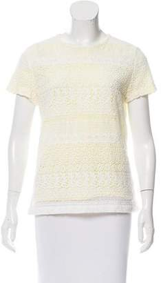 Raoul Lace Short Sleeve Top