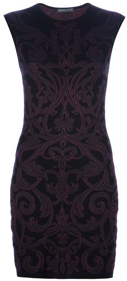 Alexander McQueen Fitted Paisley Print Dress