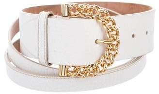 Dolce & Gabbana Leather Buckle Belt