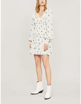 Free People Two Faces printed woven mini dress
