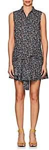 Derek Lam 10 Crosby WOMEN'S SLEEVE-DETAILED FLORAL COTTON CADY DRESS