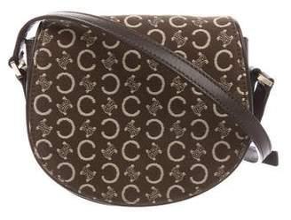 Celine Monogram & Leather Saddle Crossbody Bag