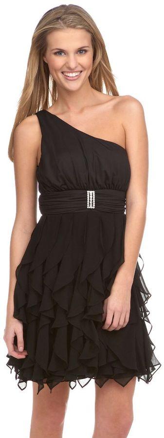 Xoxo one-shoulder ruffled dress