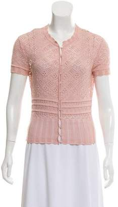 Christian Dior Crochet Short Sleeve Cardigan