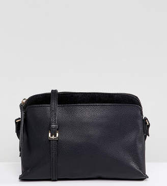 Accessorize Tess black dome leather cross body bag