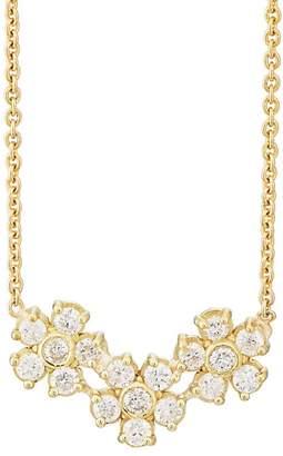 Jennifer Meyer Women's Diamond Three-Flower Pendant Necklace
