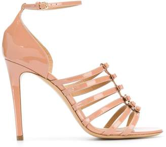 Salvatore Ferragamo stiletto bow detailed sandals