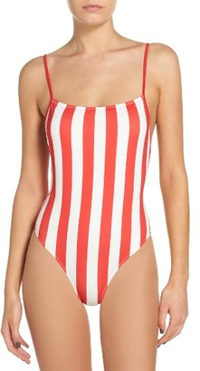 Women's Striped & Solid Chelsea One-Piece Swimsuit $168 thestylecure.com