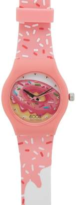Floozie by Frost French Ladies Pink Doughnut Print Analogue Watch