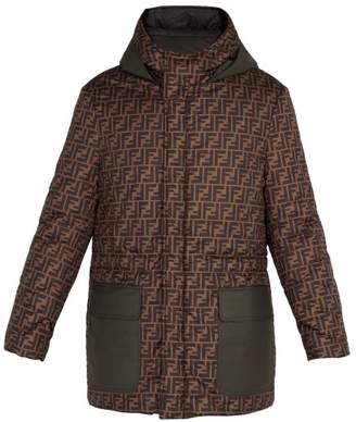 Fendi Reversible Printed Shell Parka Jacket - Mens - Brown Multi