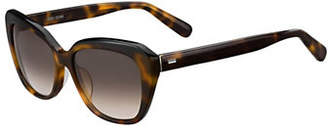 Bobbi Brown The Koko-S 55mm Oval Sunglasses