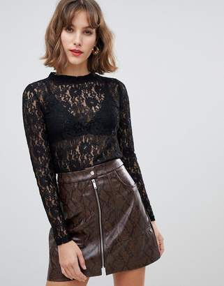 Stradivarius all over lace top