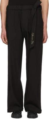 Christian Dada Black Wide-Leg Baker Trousers