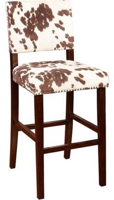 Linon Corey Bar Stool, Udder Madness, 30 inch Seat Height