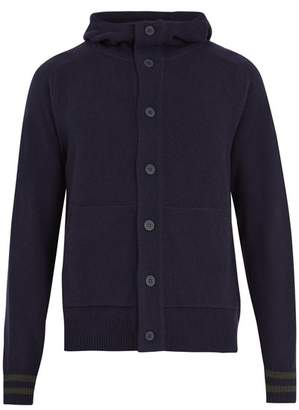 Tomas Maier Hooded Wool Cardigan - Mens - Navy