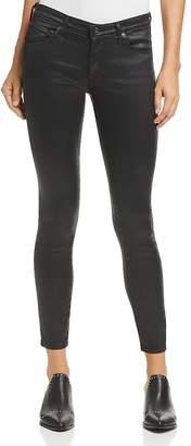 AG Jeans Coated Legging Ankle Jeans in Leatherette Super Black