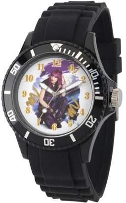 Disney Descendants 2 Mal Women's Black Plastic Watch, Black Bezel, Black Plastic Strap