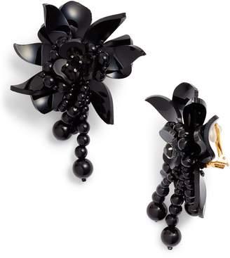 Oscar de la Renta Flower Field Petal Earrings