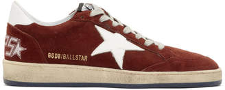 Golden Goose Red Suede Ball Star Sneakers