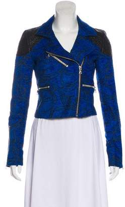 Alexis Brocade Long Sleeve Biker Jacket