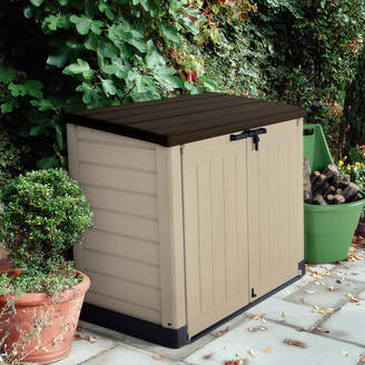 Keter Store-It-Out Max 4 ft. 9 in. W x 2 ft. 8 in. D Plastic Horizontal Garbage Shed
