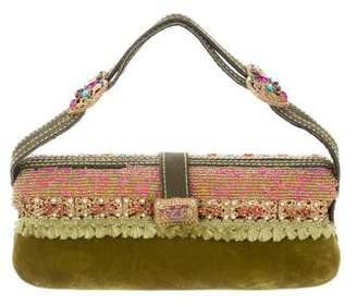 Mary Frances Embellished Velvet Bag