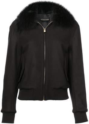 Alexandre Vauthier faux-fur collar bomber jacket