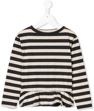 Amelia Milano striped ruffle hem T-shirt