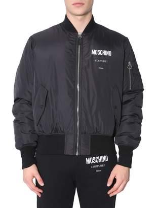 Moschino Bomber Jacket With Logo Print