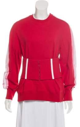 Jonathan Simkhai Long Sleeve Knit Sweatshirt