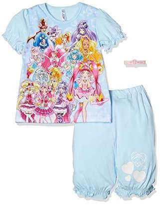Bandai (バンダイ) - [バンダイ] パジャマ プリキュアオールスターズ光る半袖 サックス 日本 100 (日本サイズ100 相当)