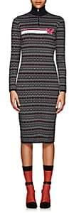 Prada Women's Dot & Chevron Knit Dress