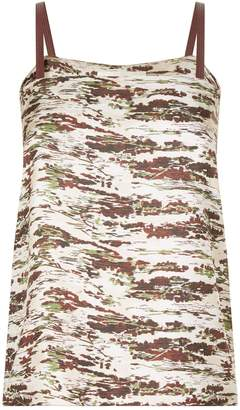 Victoria Beckham Split Back Abstract Print Camisole