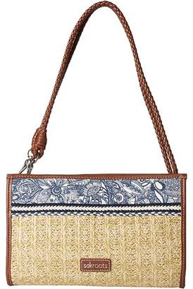 Sakroots Roma Mini Straw Crossbody Cross Body Handbags