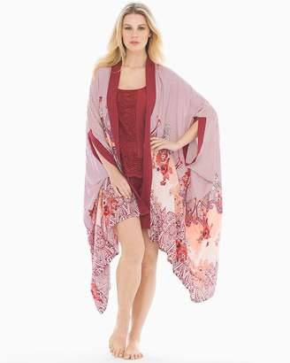 Rayon Challis Pajama Wrap Nomadic Scarf Cherrywood