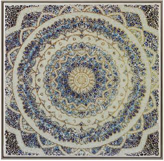 "Harbor House Mosaic Mandala Waves 16"" x 16"" Crushed Glass Wall Art"