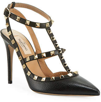 Valentino Rockstud Leather Caged Pump