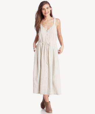 Sole Society Button Up Dress with Tie Waist