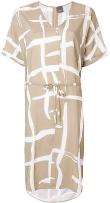 Lorena Antoniazzi pattern print belted waist dress