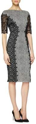 Lela Rose Lace Placed Dress