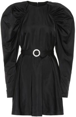 Rotate by Birger Christensen Puff-sleeve satin minidress