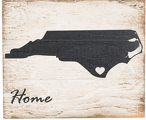 North Carolina 'Home' Wall Sign