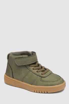 Next Boys Khaki Elastic Lace Boots (Younger)