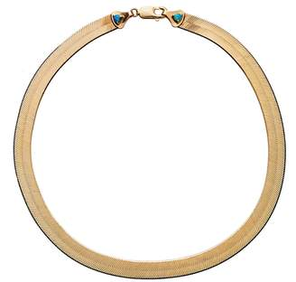 WWAKE 18 Inch Large Rhodes Herringbone Necklace - Yellow Gold