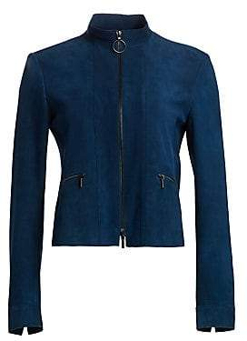 Akris Punto Women's Zip-Up Suede Jacket