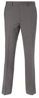 Burton Mens Tailored Fit Grey Textured Suit Trousers