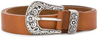 B-Low the Belt engraved buckle belt