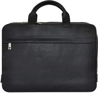 Kiko Leather Agent Pebble Leather Briefcase