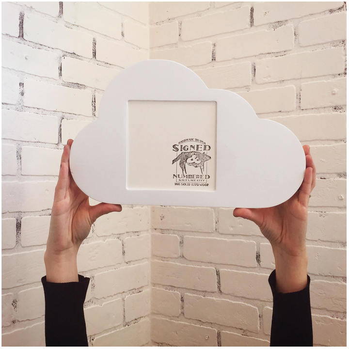 """Etsy Cloud Shape Square Opening Picture Frame in Finish COLOR of YOUR CHOICE - 5.5 x 5.5"""" Viewing Area 6"""