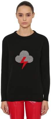 Alberta Ferretti Oversize Storm Wool & Cashmere Sweater